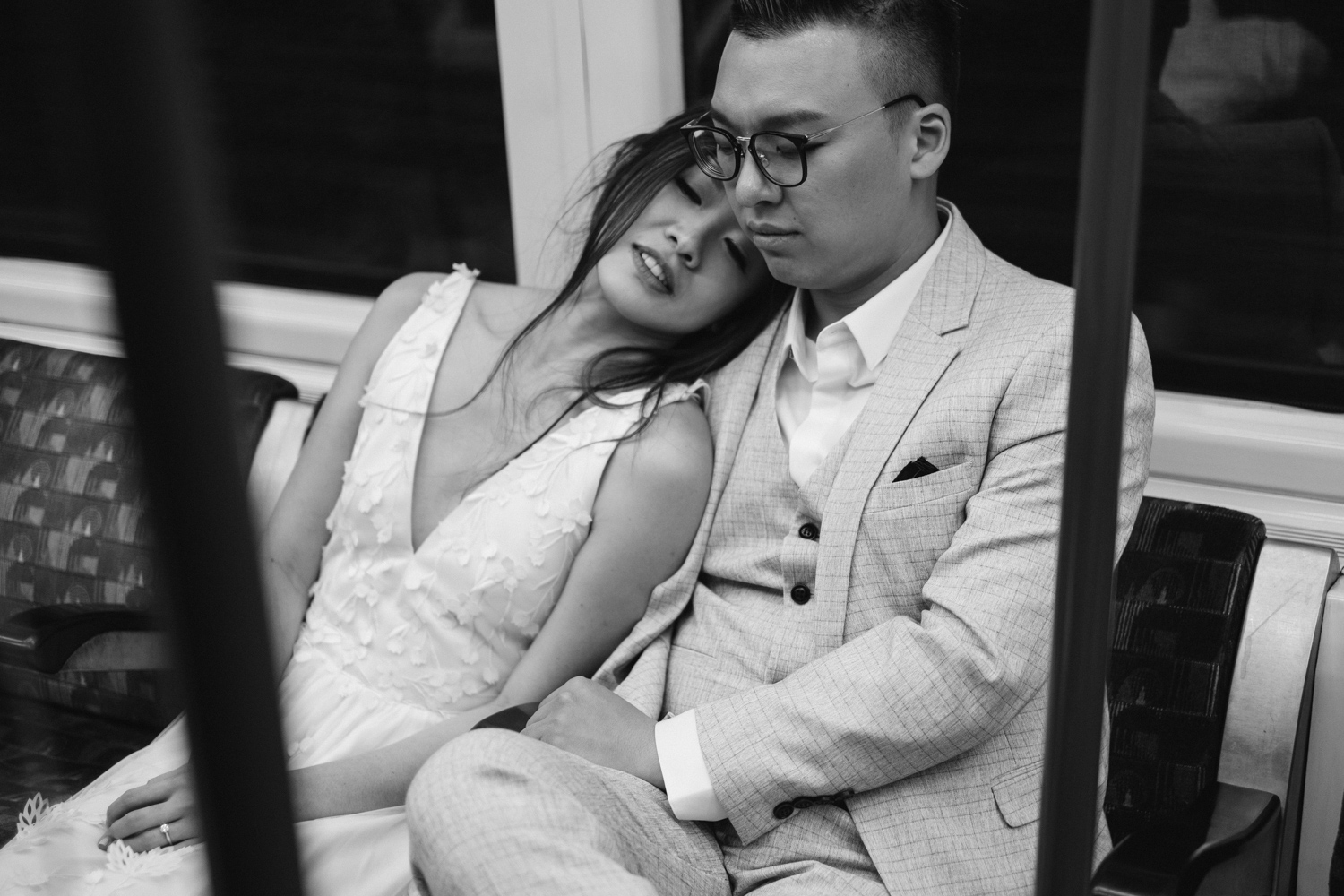 Copy of London pre-wedding photos - on the underground