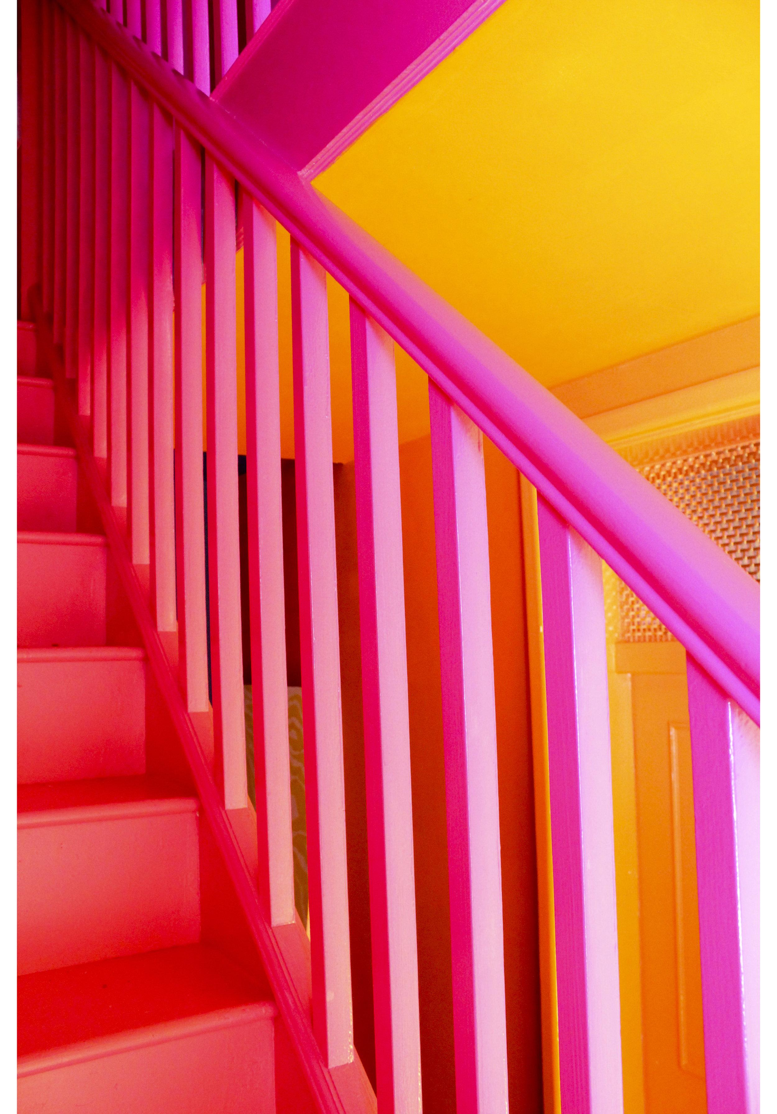 MLH Pink Bannisters Orange Ceiling.jpg