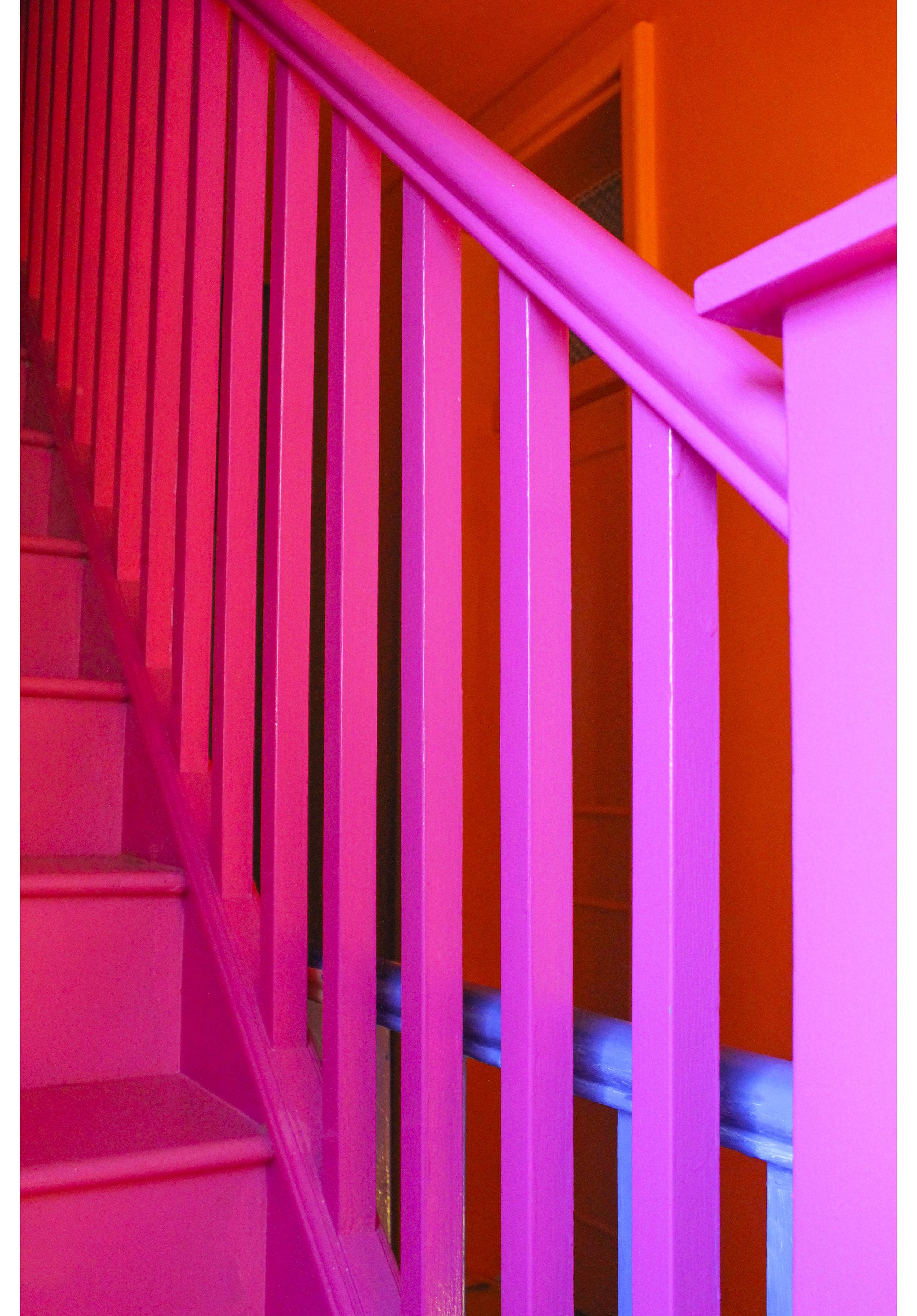 MLH Pink Orange Blue Bannisters.jpg