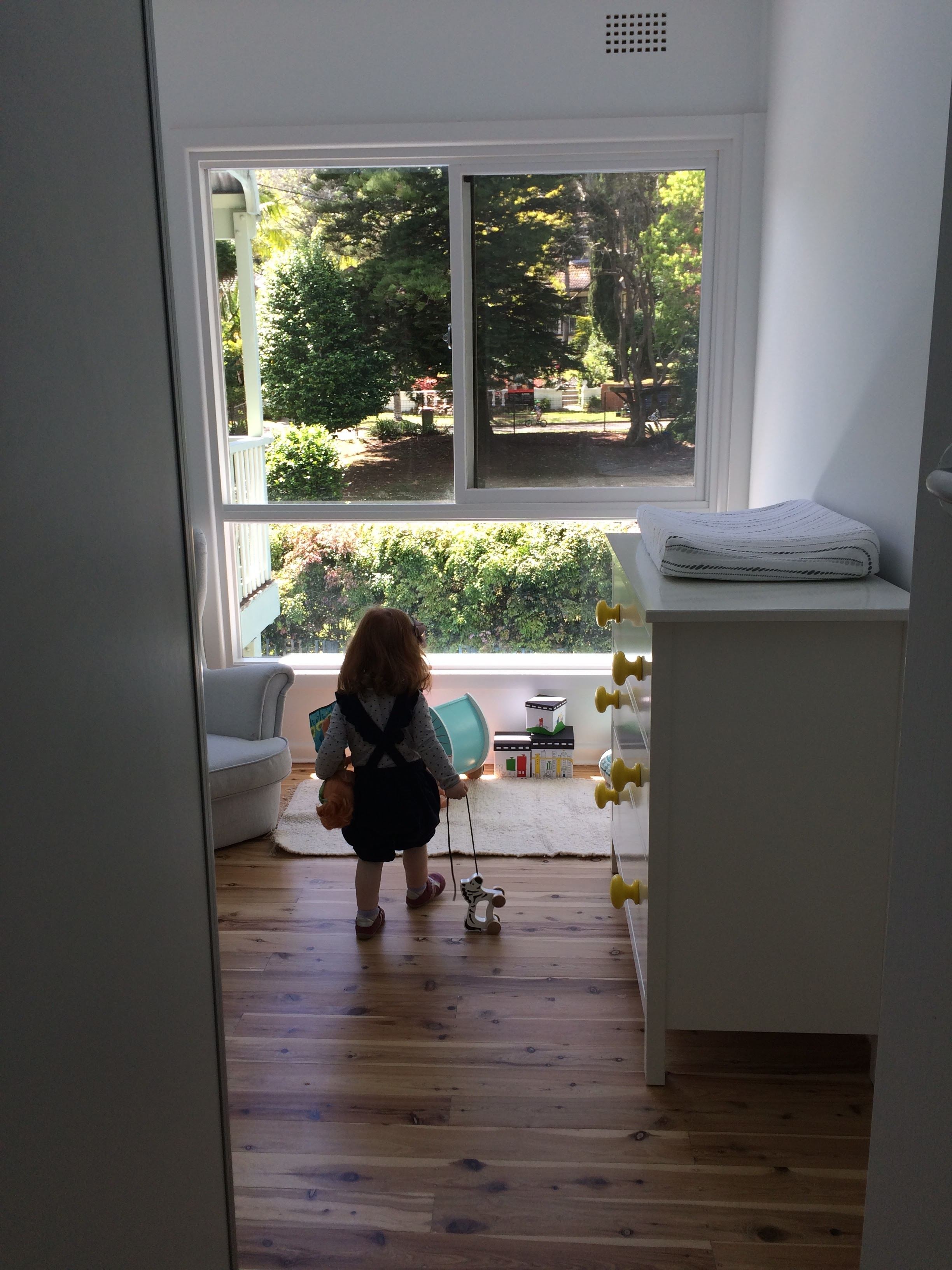 NEW BEDROOM FOR OUR LITTLE ONE - GREAT VIEWS TO THE LEAFY FRONT GARDEN