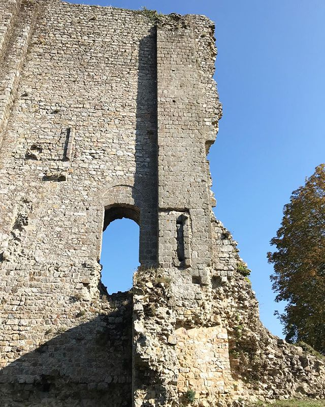 12th century castle ruins in Domfront #crumblingcastles #frencharchitecture #normandiearchitecture #domfront