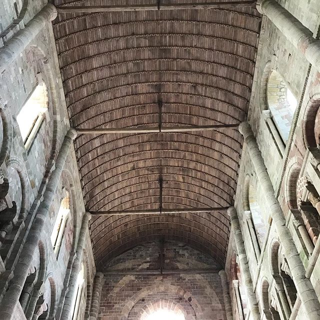 Loved the timber clad ceiling in the Abbey #wasworthclimbingallthestairs #montstmichel #frencharchitecture