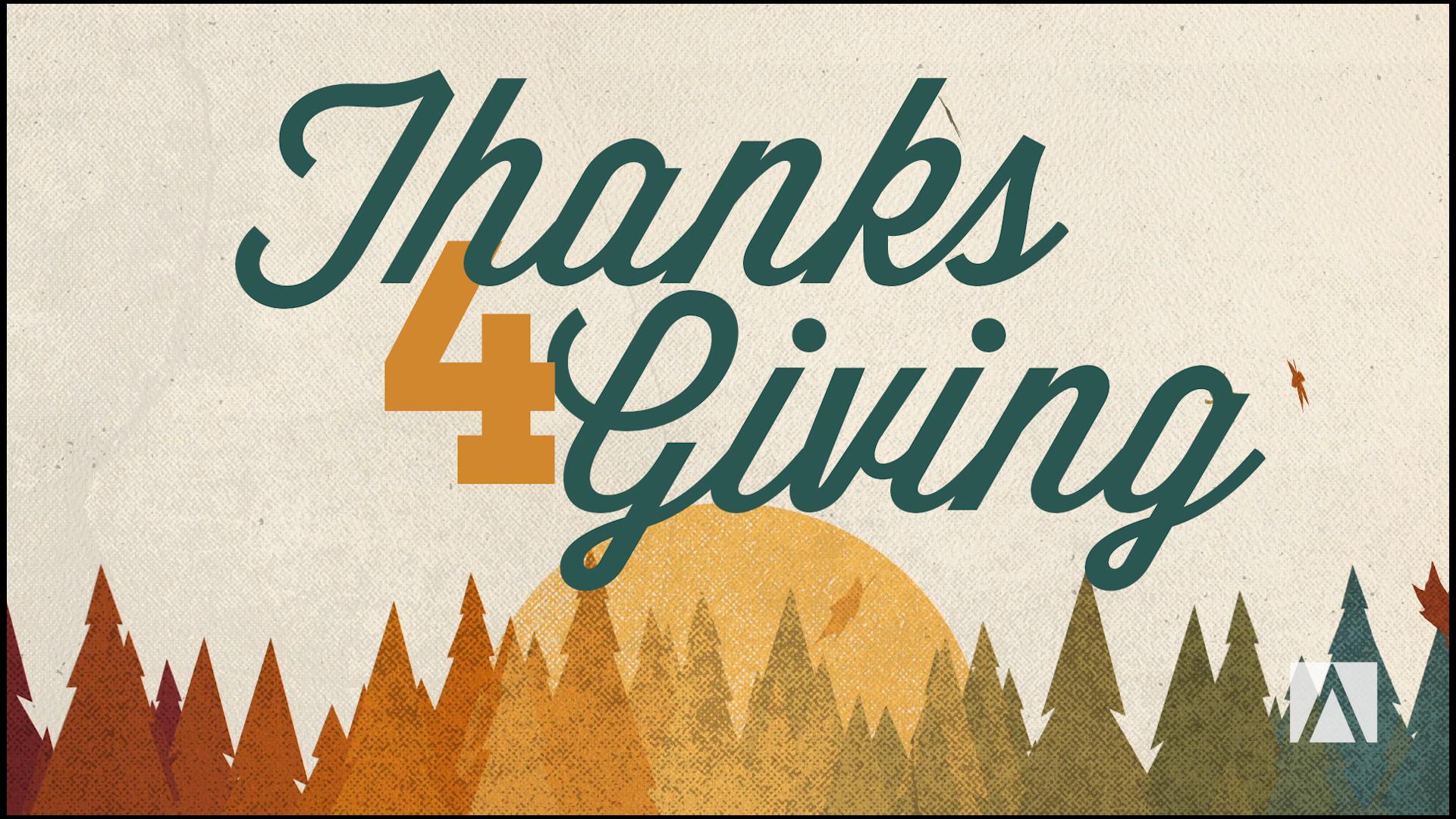 Thanks for Giving - November 2014