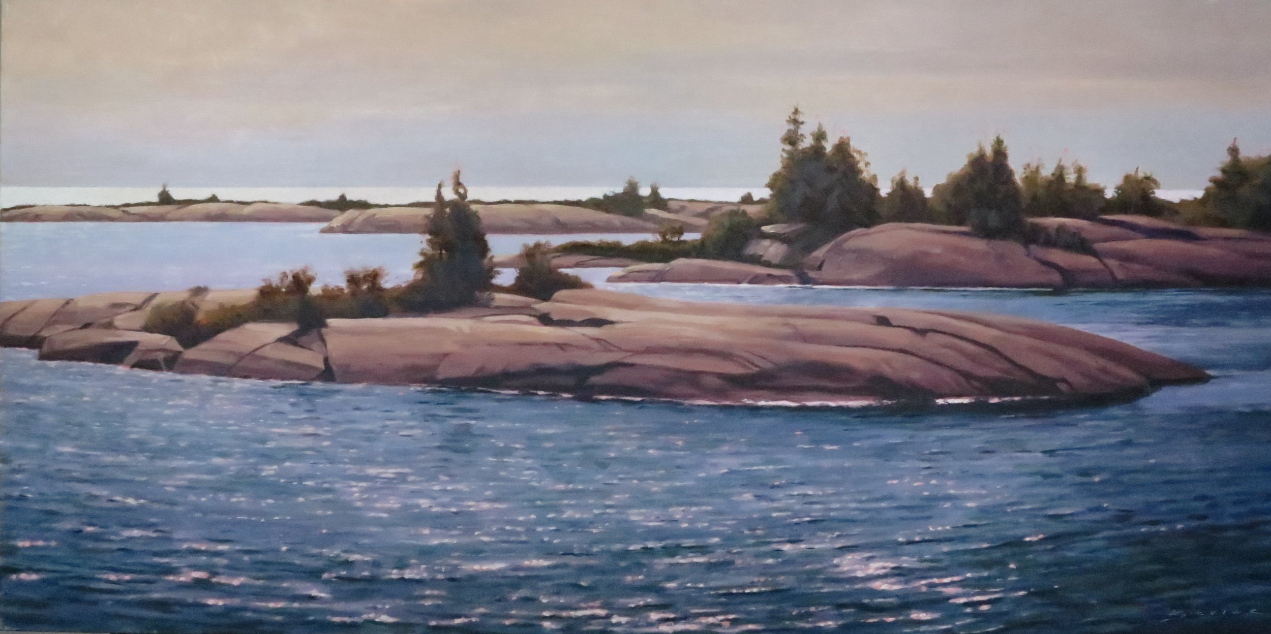 End of Day, 20 x 40, oil