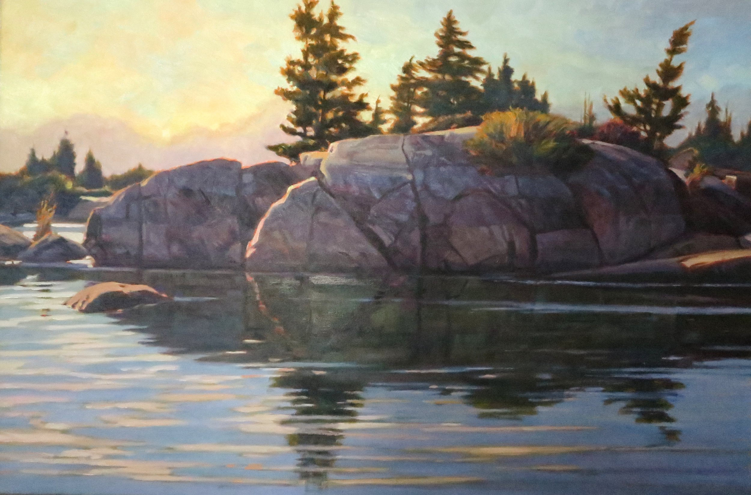 Georgian Bay Solitude, 24 x 36, oil
