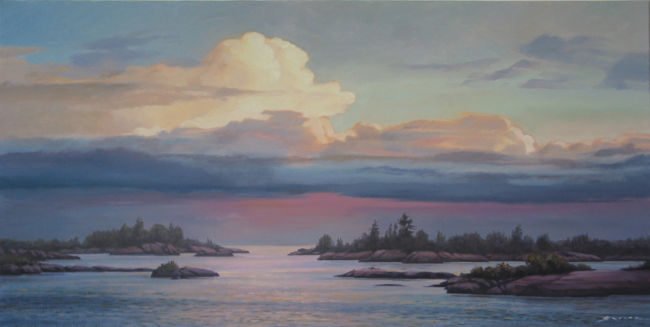 Looking out to Geo. Bay, 20 x 40, oil