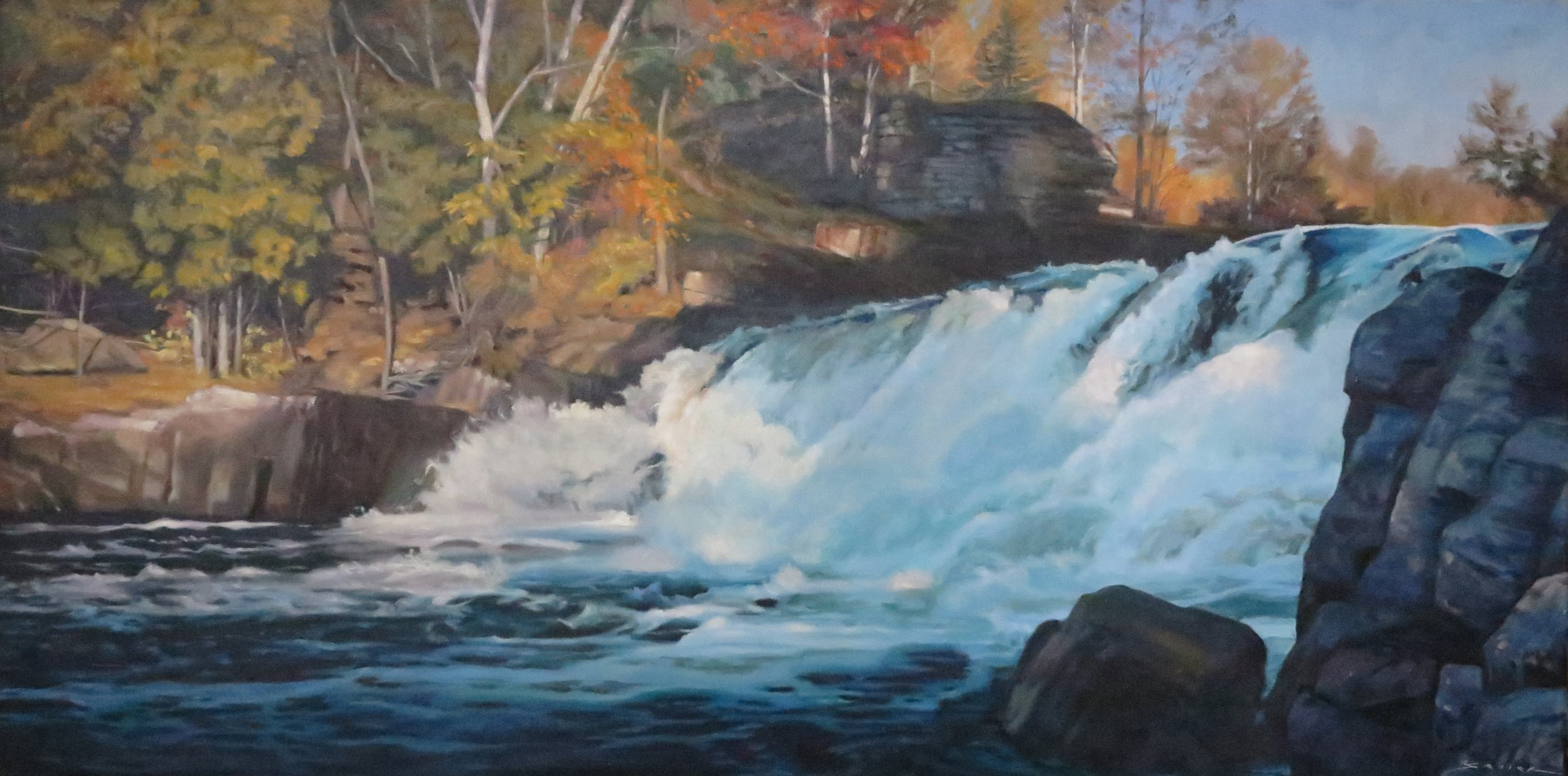 Oxtongue Falls, 20 x 40, oil