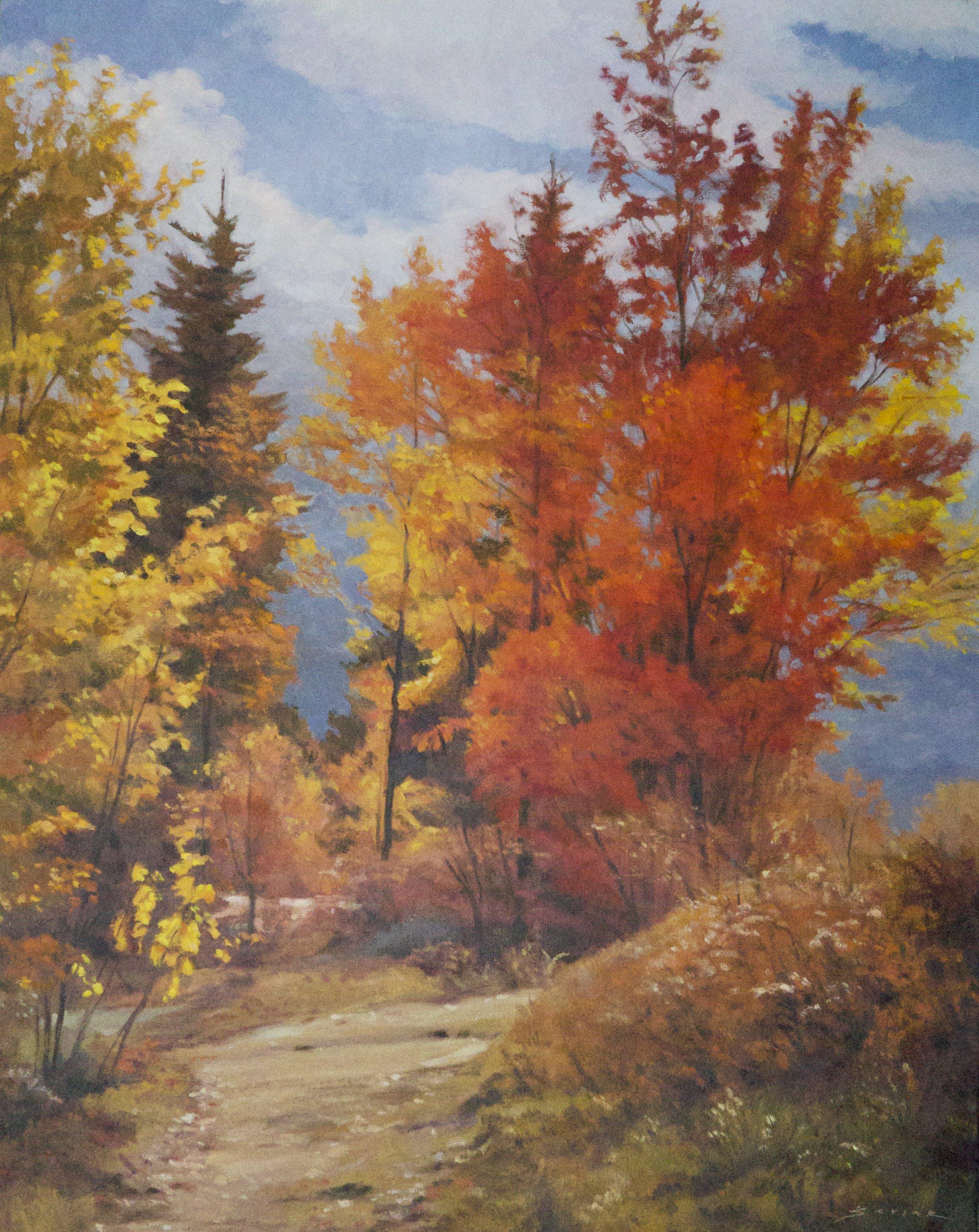 Algonquin Fall, 28 x 22, oil
