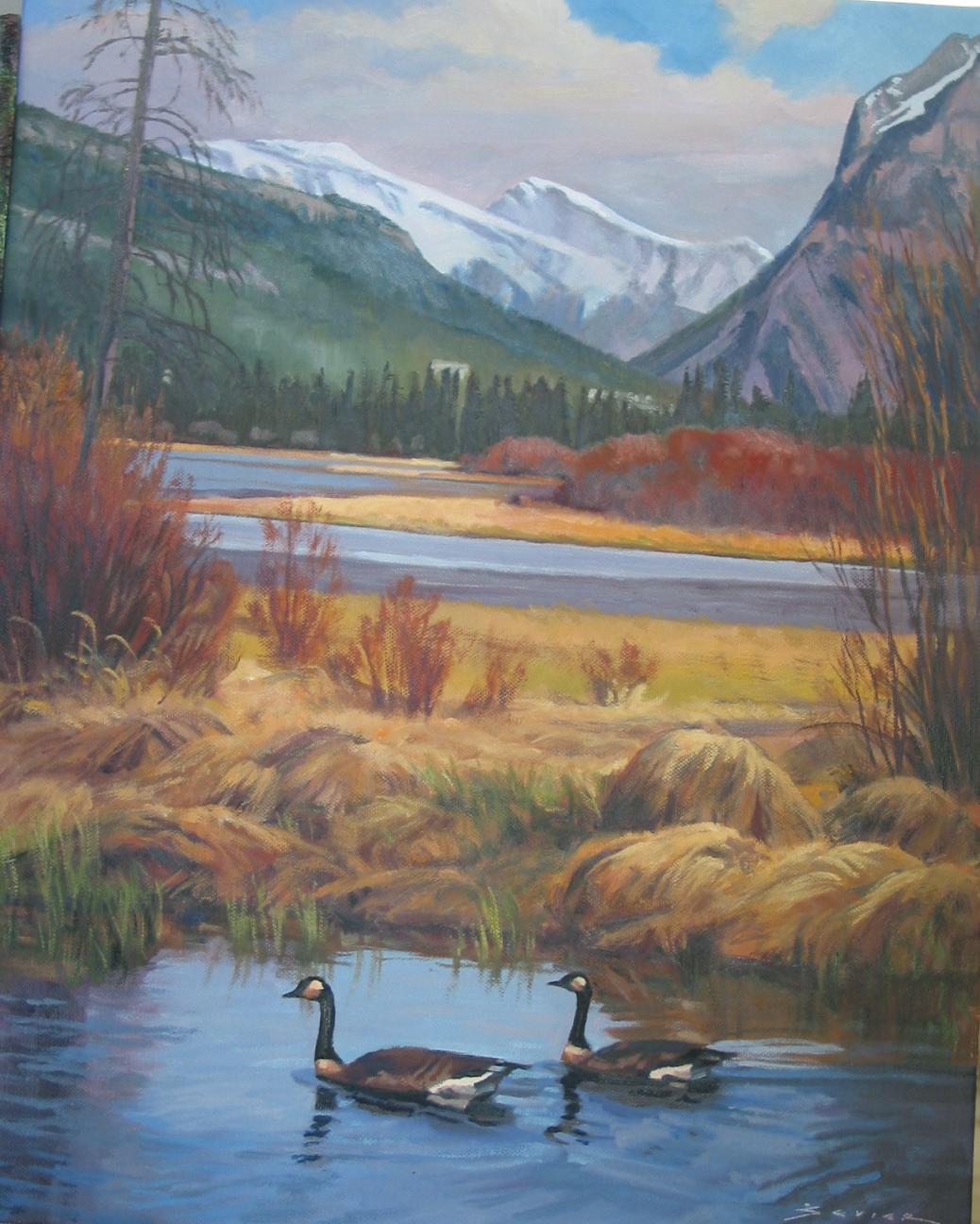 Banff Alberta, 20 x 16, oil