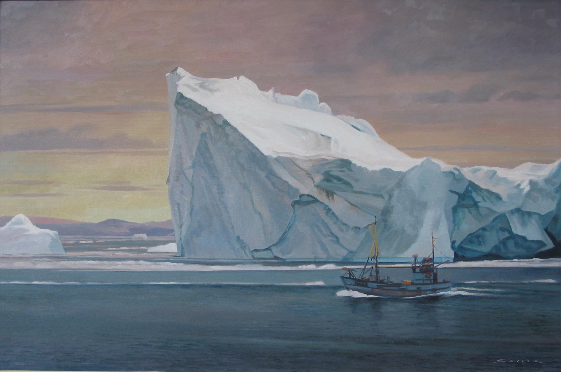 Disko Bay/Greenland, 24 x 30, oil