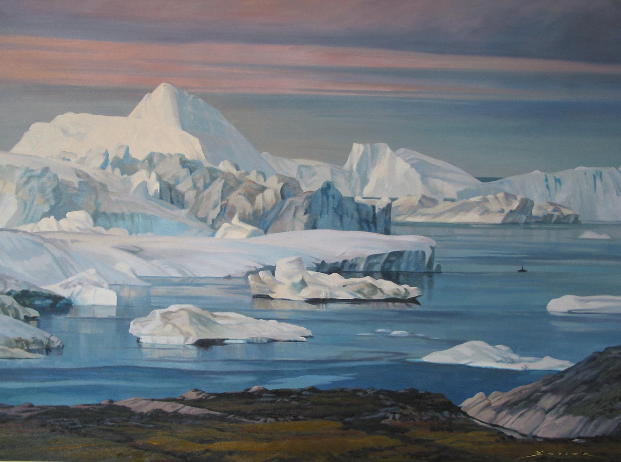 Jacobshavn Fjord, Greenland, 30 x 40, oil
