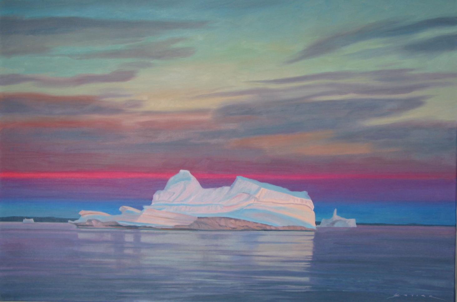 Morning Magic/Frobrisher Bay, 24 x 36, oil