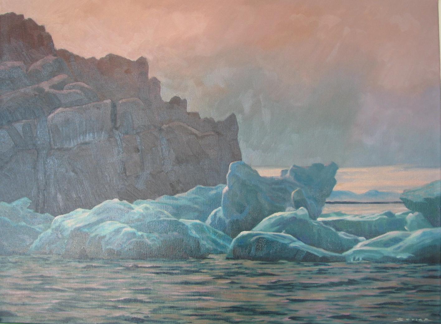 Monumental Island, 18 x 24 oil