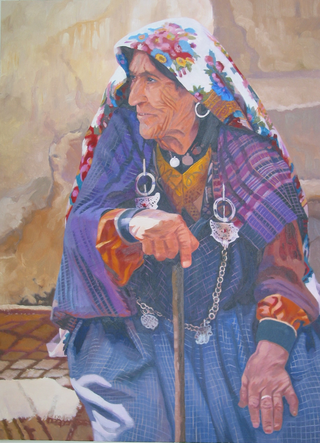 Berber Woman, 30 x 22, oil
