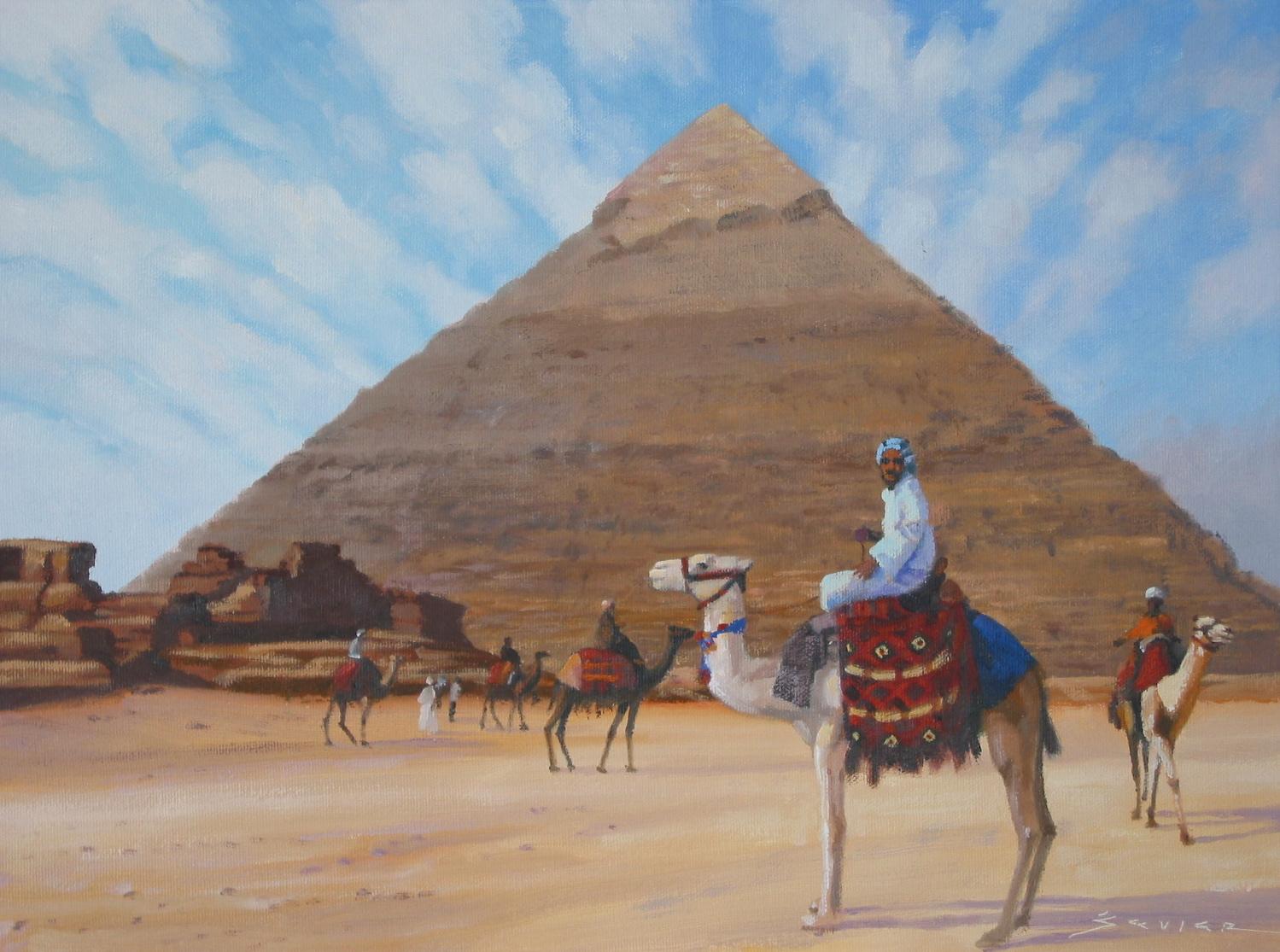 Khafre/Giza, 12 x 16, oil