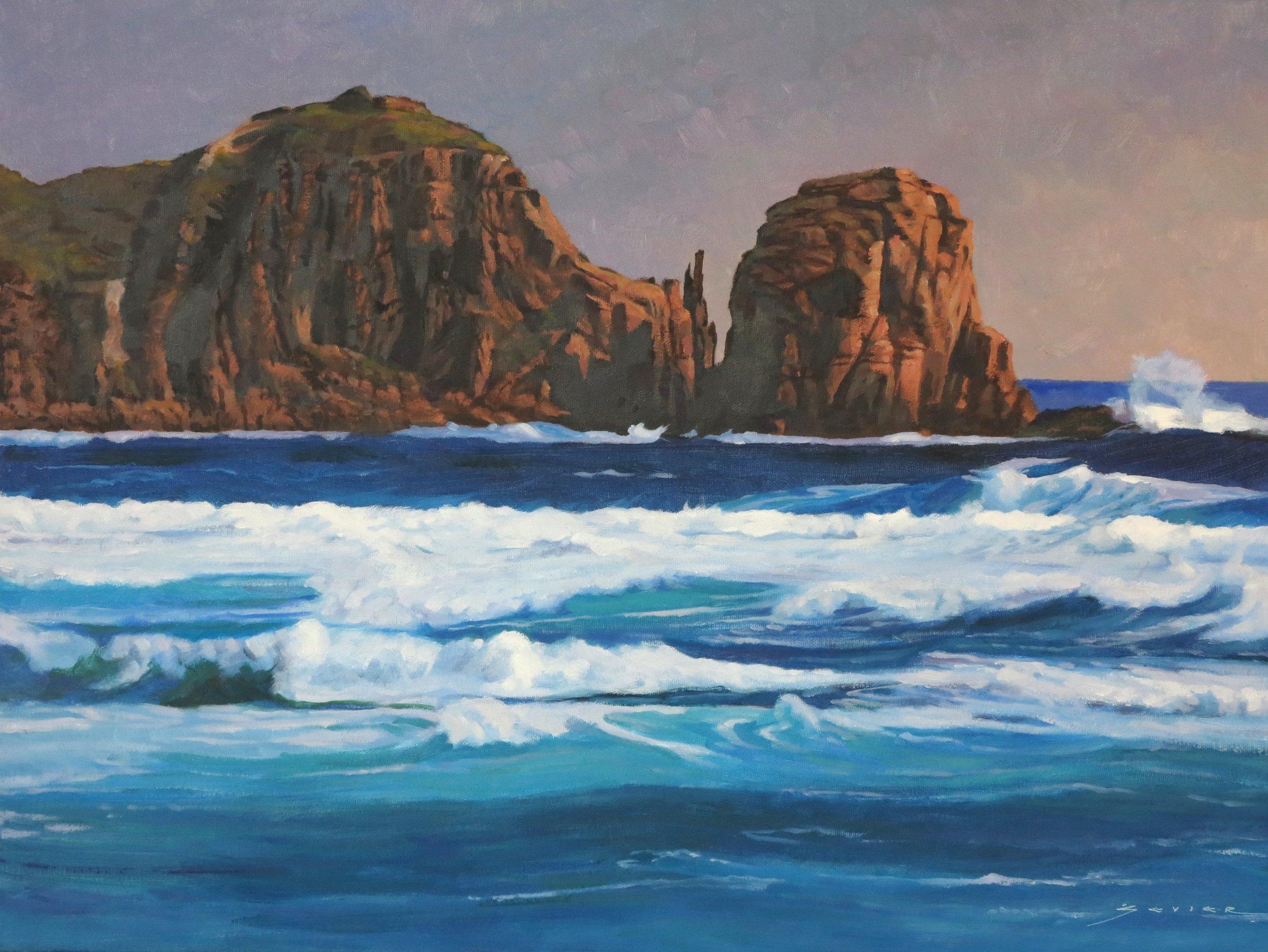 Philip Island/Australia, 18 x 24, oil