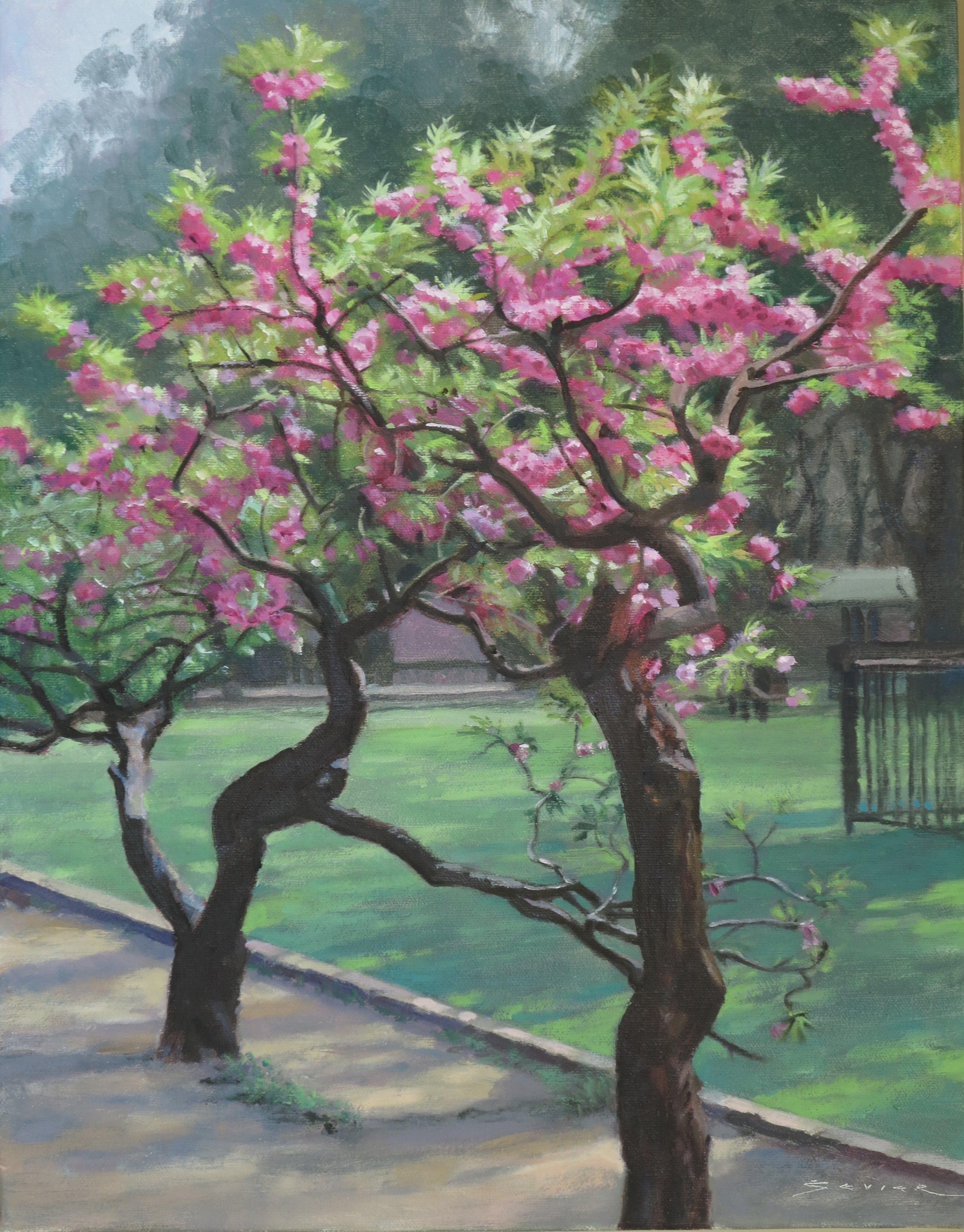 Beijing Park, 18 x 14, oil
