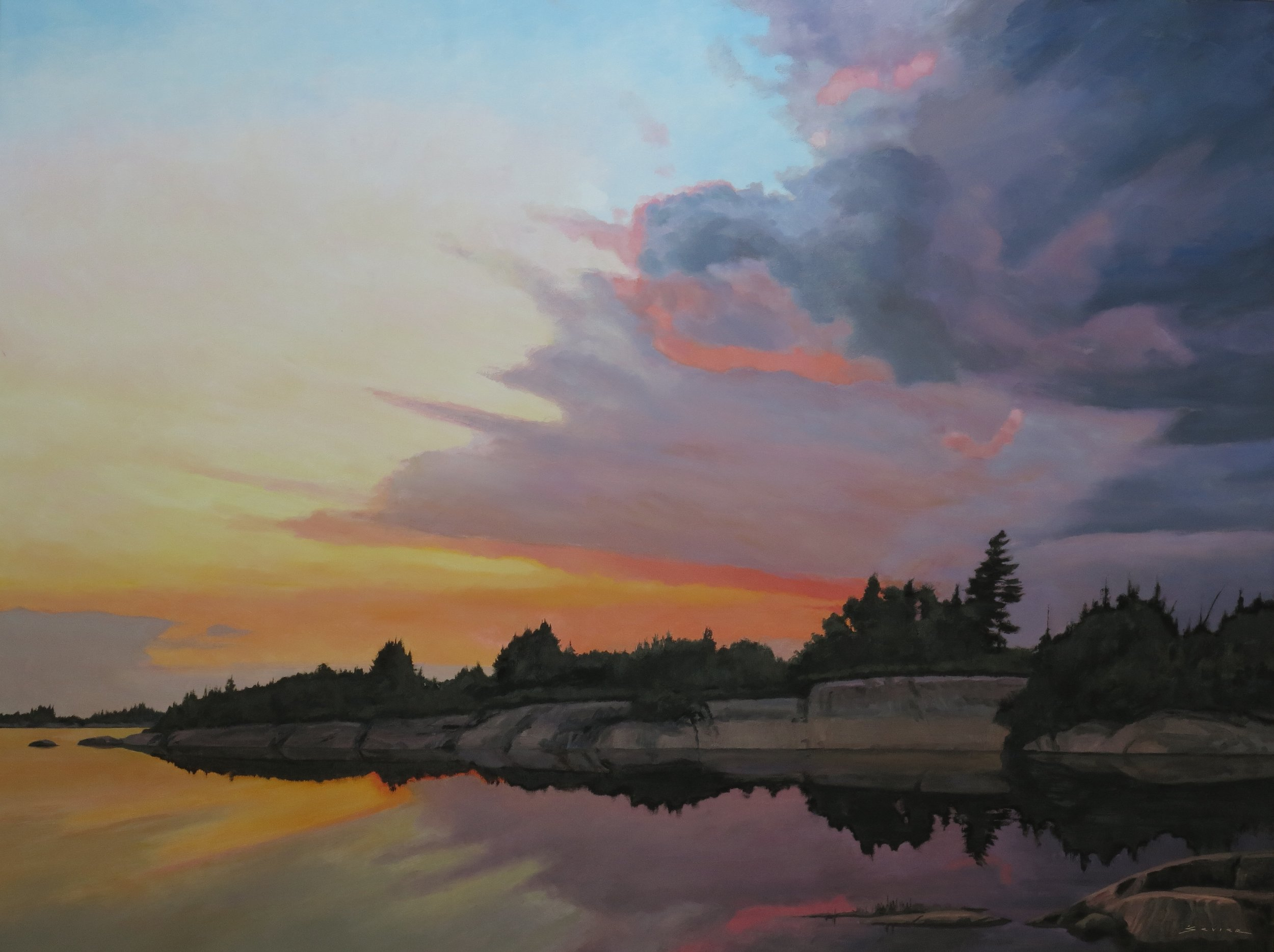 Geo. Bay Sunset, 36 x 48 oil