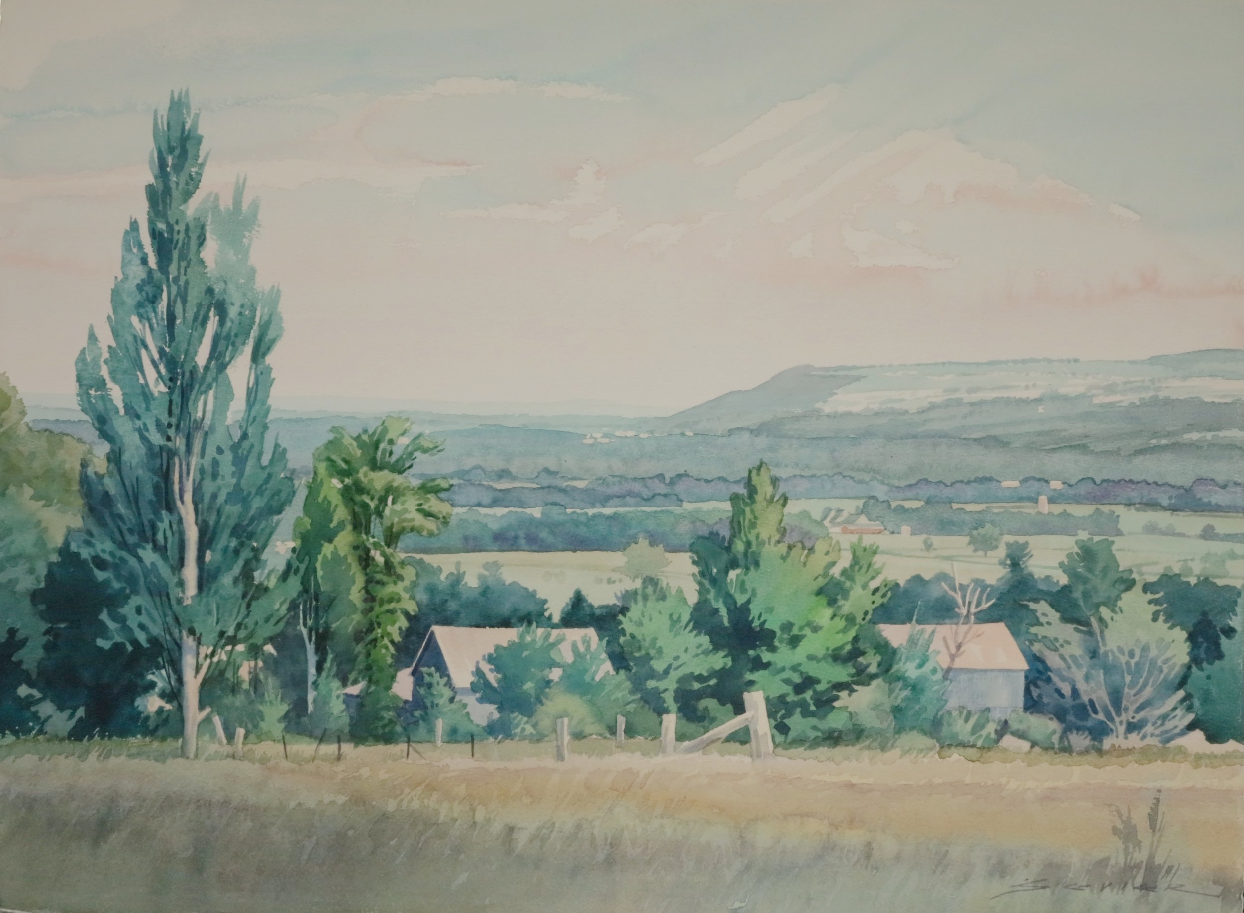 Blue Mountain, Looking East  22 x 30 watercolour