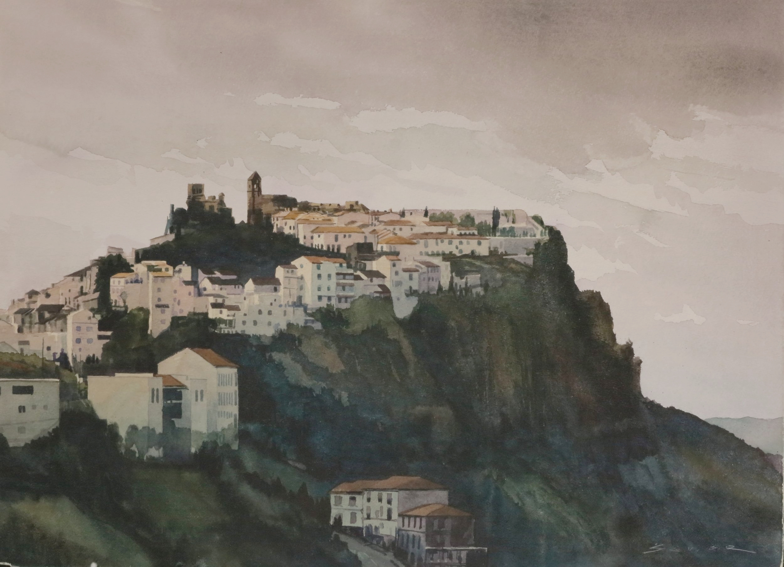 Casares/Spain 22 x 30 watercolour
