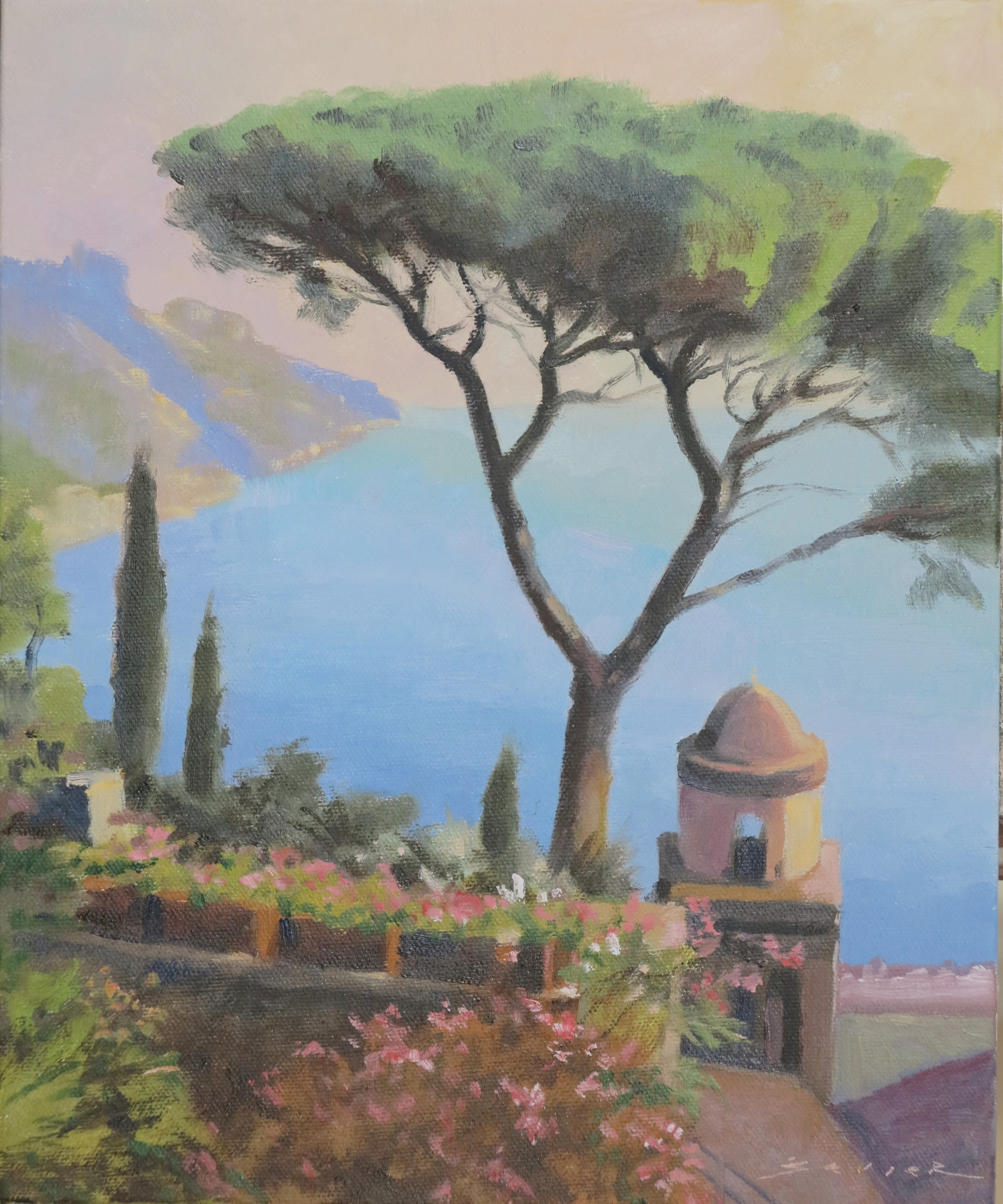 View from Ravello/Italy, 12 x 10, oil