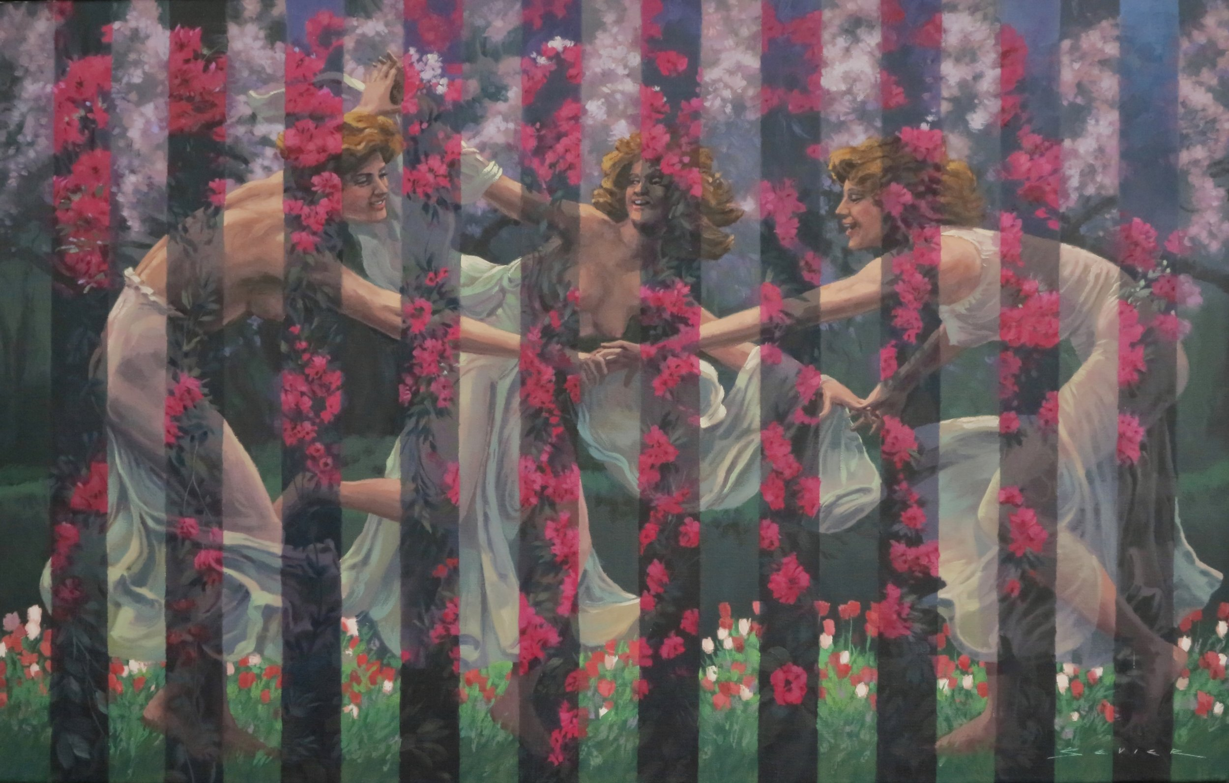 The Graces, 24 x 36, oil