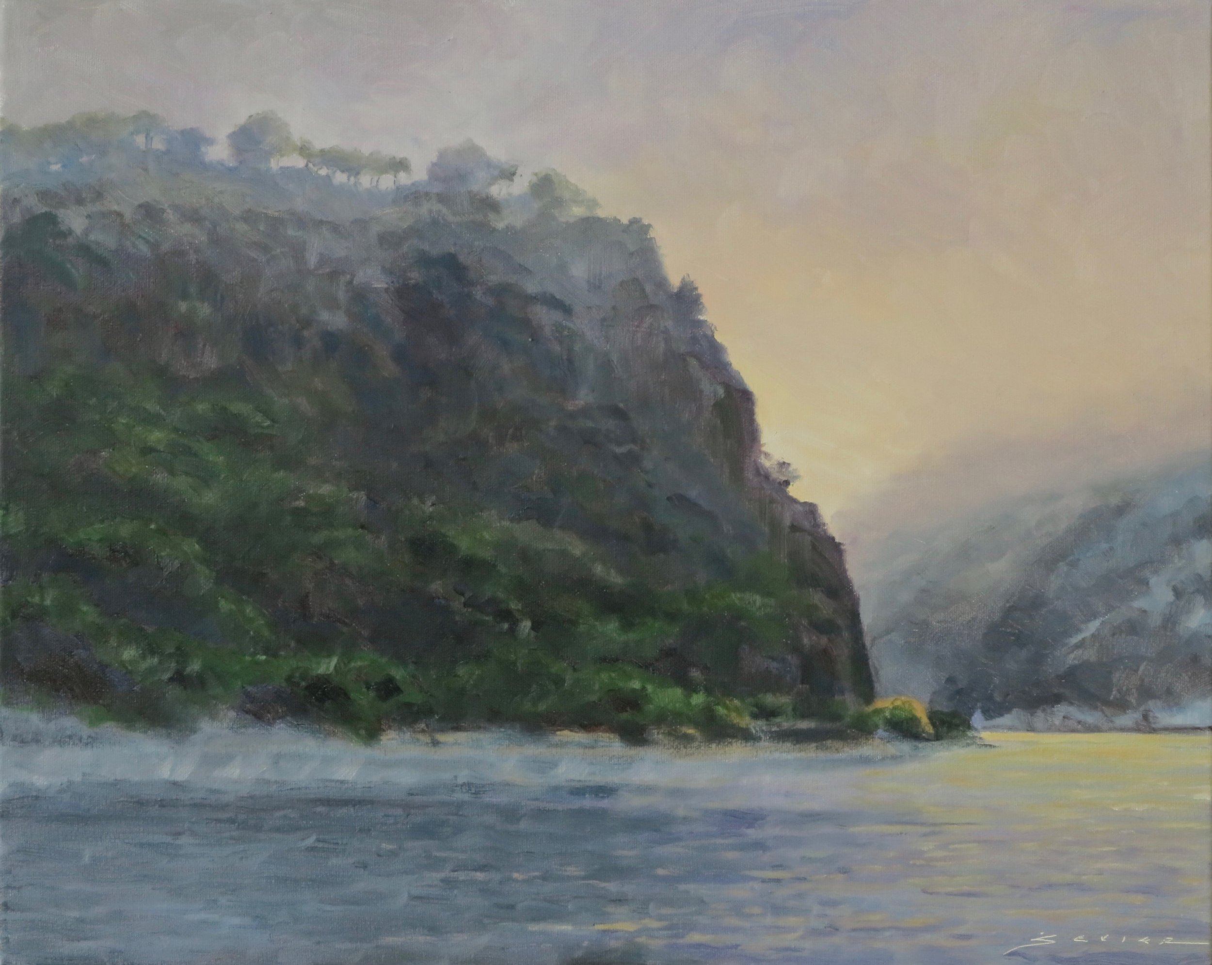 "The Lorelie (Rhine Gorge), Germany        16"" x 20"" oil"