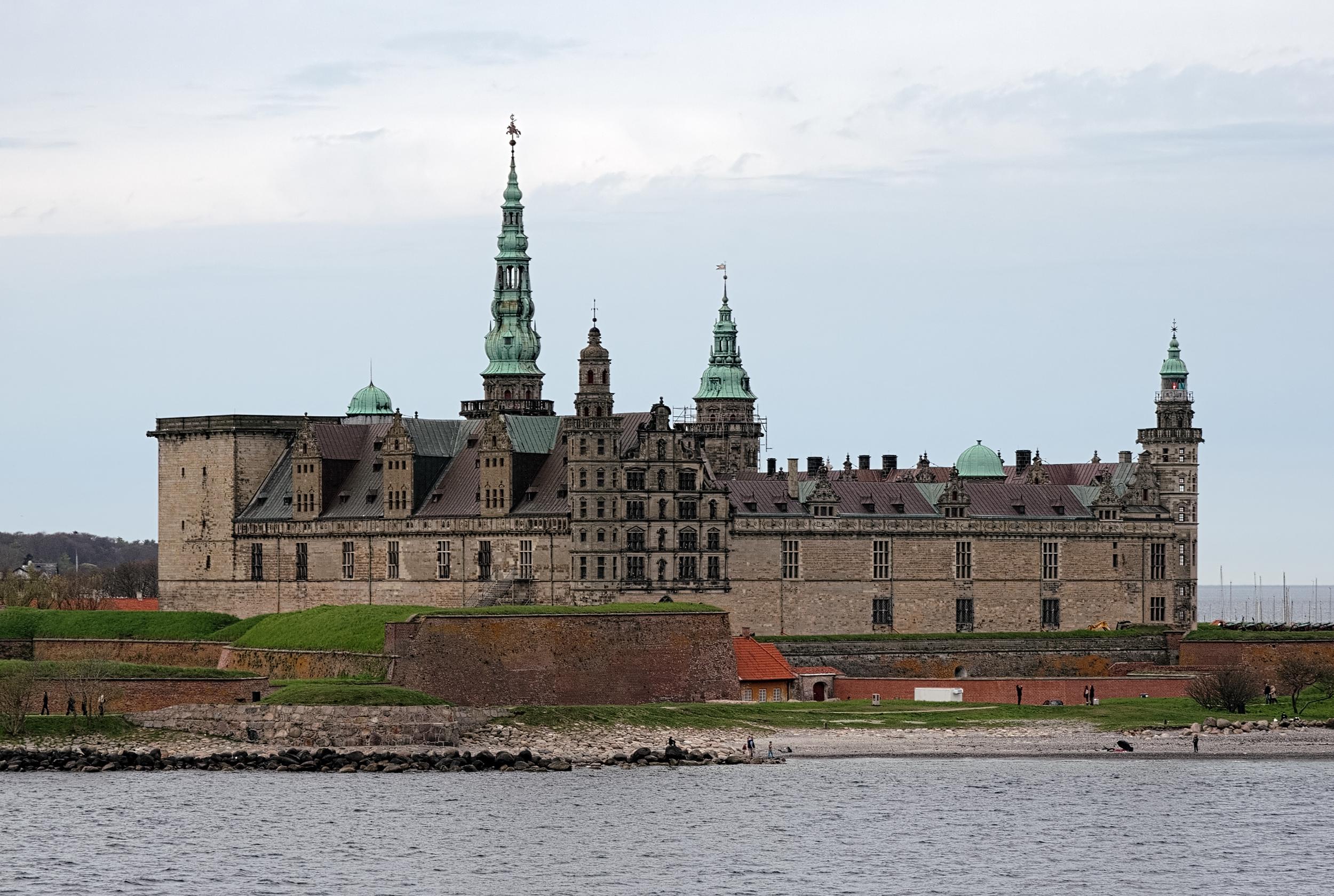 Kronborg Castle in Helsingør, Denmark, the scene of Shakespeare's  Hamlet