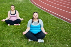 Meditating near the running track.jpg