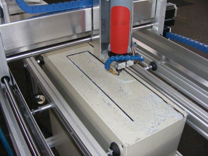 Milling steel cabinets