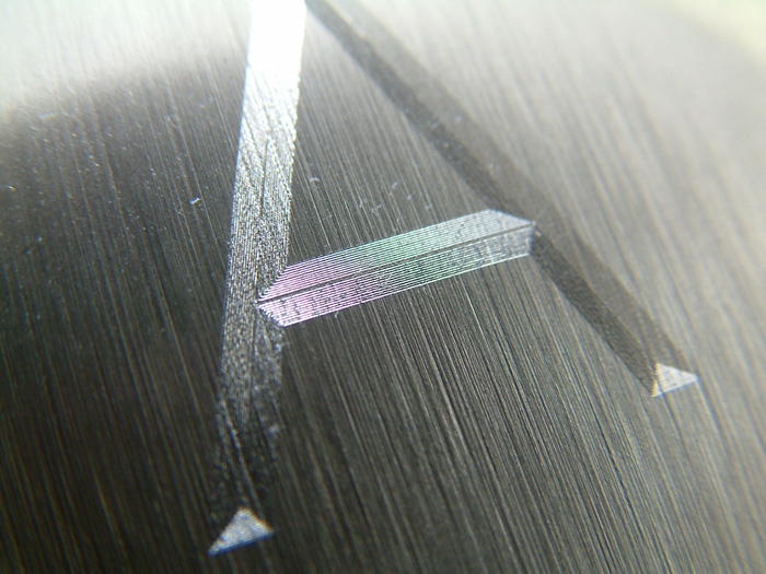 Diamond drag engraving