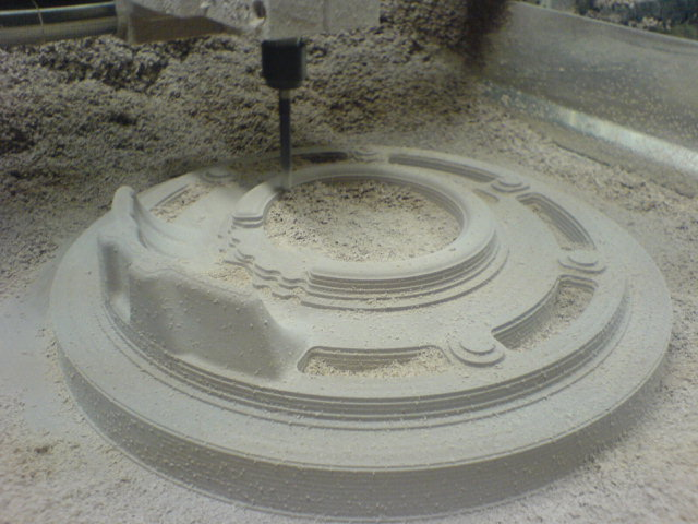Making sand cast molds