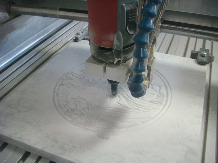 Marble decorative pattern on CNC