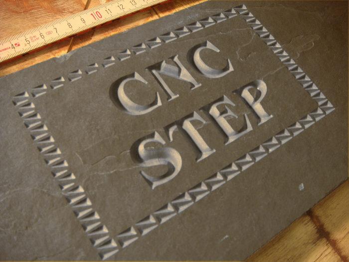 CNC v-carving slate