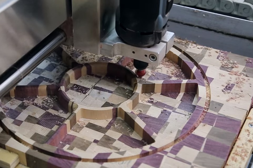 High-Z CNC machine routing wood