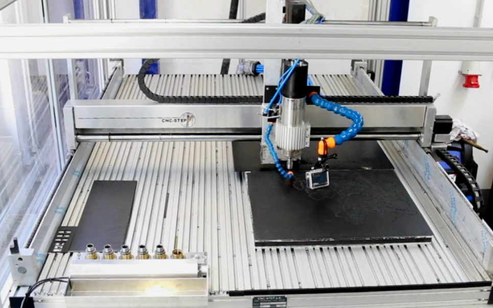 Routing carbon fiber wiht a High-Z CNC machine and ATC spindle from Mechatron