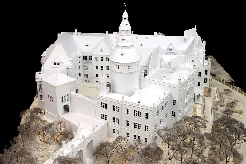 Architectural model made on a High-Z CNC machine