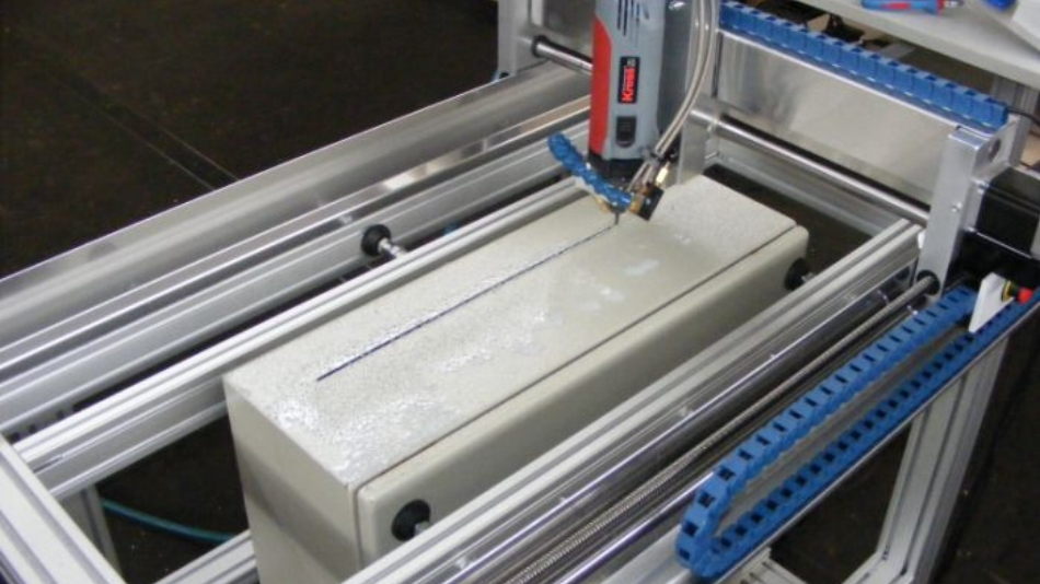 Cutting out holes in electronic cabinets with the High-Z CNC machine