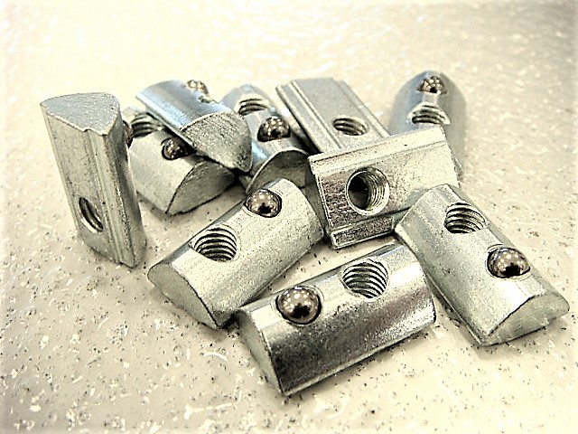 T-slot nuts for T-slot tables from CNC STEP USA