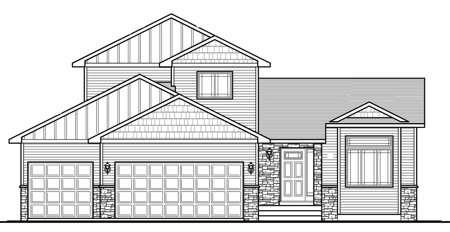 The Brittany3bd/3ba 1663sfMod. Two Story -