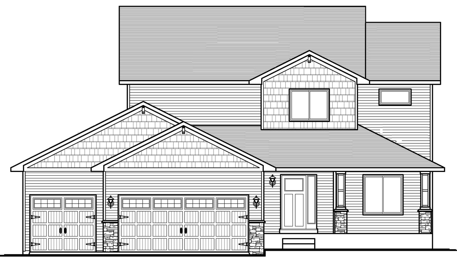 The Audrey4bd/3ba 2450sfTwo Story -