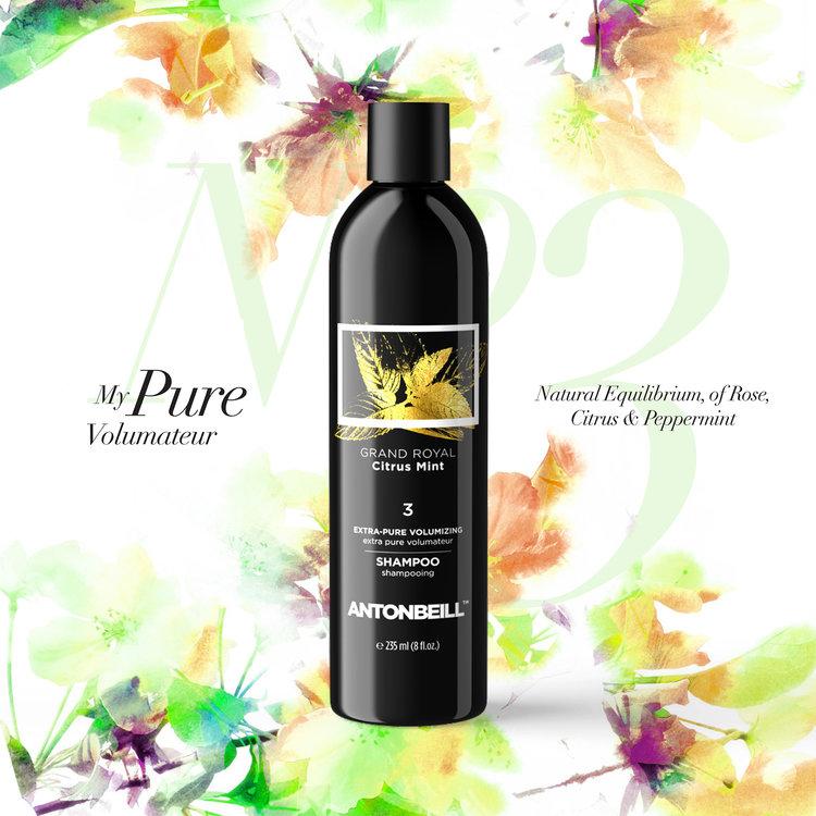 Nº3 GRAND ROYAL CITRUS MINT Shampoo - Natural Equilibrium, of Rose, Citrus & Peppermint