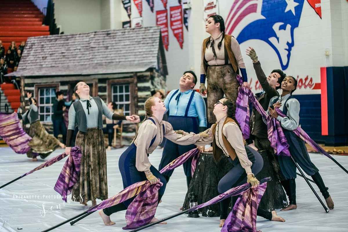 wgi senior pictures winter guard high school band color guard grad photo peoria az glendale phoenix arizona 2018 class of 2019 flag spin action photographer Anjeanette Photography Phoenix