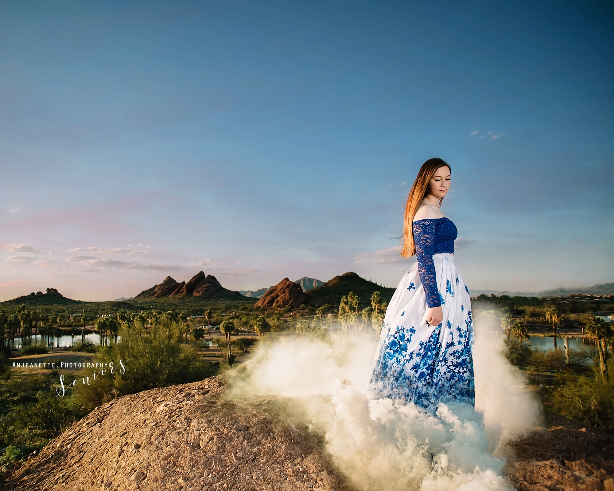 best Places to take senior graduation pictures Sandra Day O'Connor High School Phoenix Peoria Az Anthem high school portraits