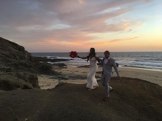 """There are not enough beds and rental cars in all of Baja for the people who love @meghandhaliwal and @dominicbracco. """"Baja is a magic place,"""" Meghan wrote on their wedding website. But she and Dom bring half the magic. Abrazos, mis amores. ❤️"""