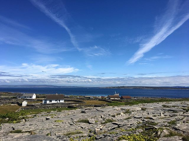 This is Inis Meáin, the middle of three Native Irish-speaking islands off the coast of Ireland called the Aran Islands. It's the quietest and most traditional of the three. Population about 200. I've never seen anyplace like it. There was so much rock in the land that people dug it up and stacked it into dozens of precarious, meandering walls so they could farm. You can see the Cliffs of Moher from some parts of the island. The silence presses gently on your ears.