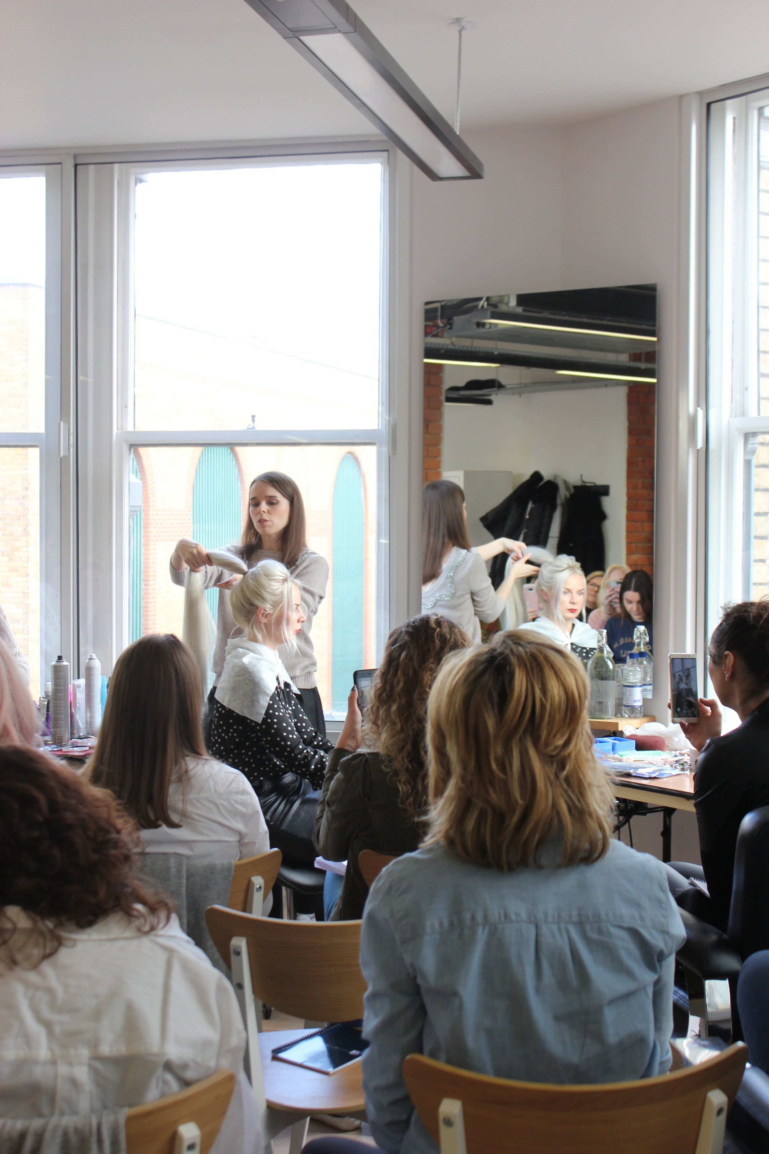 Kristina's hair masterclass with Lena Bogucharskaya at Hunter Collective.