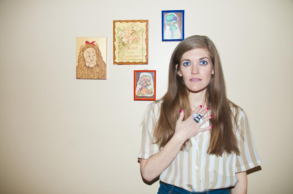 Image of Erin Markey from BOMB Magazine.