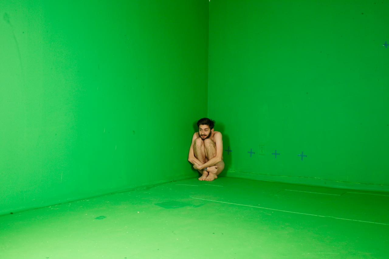 What can I say? The boy loves his green screen.