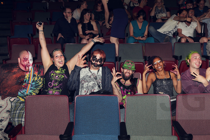 Juggalos from Buffalo, NY who collaborated with Cummings on the film at a screening at BAM, Brooklyn, NY (2014)